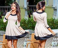 Платье № 1188 бежевое