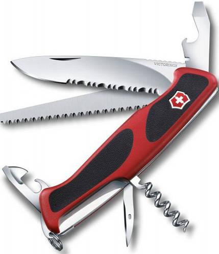 Швейцарский качественный складной нож Victorinox RangerGrip 155, 09563.WC красный