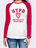 Женский  Лонгслив-реглан Полиция Нью-Йорка