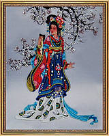 Набор для вышивания бисером на авторской канве Восточная красавица - 2 Р-220