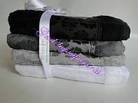Комплект полотенец лицо (баня, сауна) Cestepe 4 seramik Silver-Dark  100% bamboo бамбук махра Турция