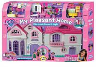 Большой дом для кукол со светом и звуком с мебелью