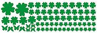"""Наклейка на стену, виниловые наклейки, стикеры """"Зеленые цветы"""" 106 цветочков и 7 бабочек в наборе (лист20*60)"""
