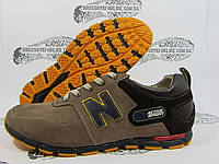 Кроссовки мужские Active Sport коричневые, темные задник