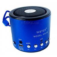 Портативная мини-колонка Радиоприемник колонка WSTER WS-A8 линейный аудио-вход Авто-сканирование FM радиостанц