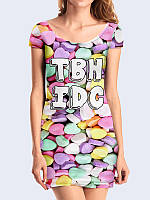 Женское 3D  Платье TBH IDC конфеты