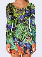Женское 3D  Платье Vincent van Gogh Irises