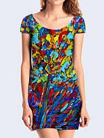 Женское 3D  Платье Абстракция красками