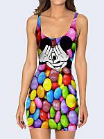 Женское 3D  Платье Забавный Микки