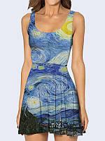 Женское 3D  Платье Картина Starry Night