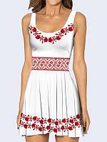 Женское 3D  Платье Вышиванка