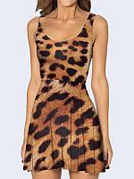 Женское 3D  Платье Леопардовая расцветка