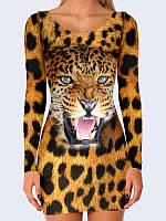 Женское 3D  Платье Леопардовый принт