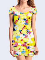 Женское 3D  Платье Летние ромашки