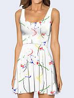 Женское 3D  Платье Пятна краски