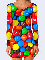 Женское 3D  Платье Шоколадные конфеты M&M's