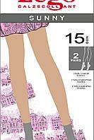 Тонкие носки с мягкой резинкой  Sunny 15 ден 2 пары, Legs
