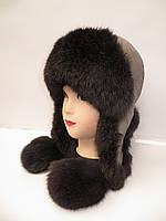 Модная меховая женская шапка ушанка