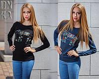 Женский свитер с вышивкой