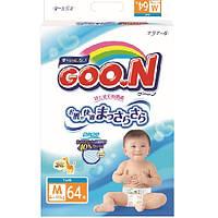 Подгузники GOO.N для детей 6-11 кг  размер M, на липучках, унисекс, 64 шт