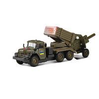 Игровой набор ЗИЛ-131  ГРАД  ВОЕННЫЙ С ПУШКОЙ  солдаты,  свет, звук