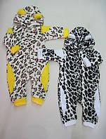 Комбинезон ясельный Леопард Махра. Размер 68 - 80 см
