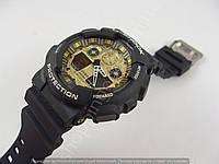 Мужские часы Casio G-Shock 5081 GA-100 черные с золотом, водонепроницаемые