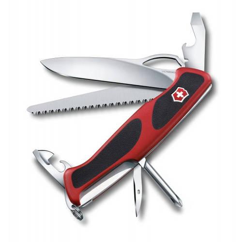 Швейцарский качественный складной нож Victorinox RangerGrip 78, 09663.MC красный