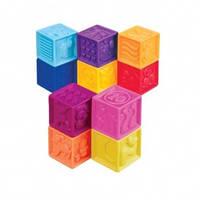 Развивающие силиконовые кубики Посчитай-ка 10 кубиков в сумочке