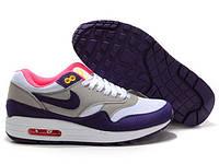 Кроссовки повседневные женские  Nike Air Max 87 серо-фиолетовые Оригинал