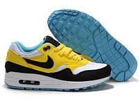 Кроссовки повседневные женские  Nike Air Max 87 желто-черные Оригинал