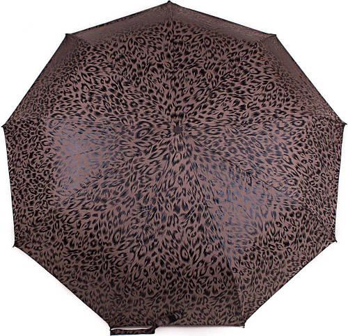 Леопардовый женский зонт ZEST( ЗЕСТ) Z23992-5 Автомат + Антиветер