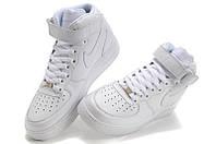Кроссовки белые женские Nike Air Force High Оригинал
