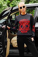 Свитшот Модный Красный Череп