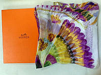 Платок Hermes шелковый прозрачный