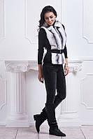 Модный женский жилет из качественного меха
