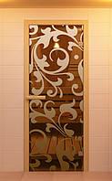 Стеклянные двери 70х190 см в сауну и баню