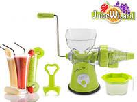 Соковыжималка ручная для фруктов и овощей Juice Wizard