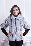Модный женский жилет из качественного меха с четвертным рукавом от производителя