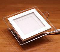 Встраиваемый светодиодный светильник Feron AL2111 6W (со стеклом)