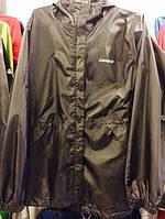 Черная ветровка, куртка с капюшоном фирмы Сampus.