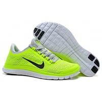 Женские беговые кроссовки Nike Free Run 3.0 V5, салатовые Р. 37 39