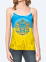 Женская 3D  Майка Большой Герб Украины