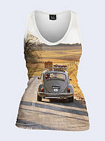 Женская 3D  Майка Путешествие на авто