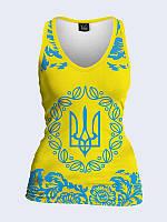 Женская 3D  Майка Украина Герб