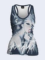 Женская 3D  Майка-борцовка Леди Гага