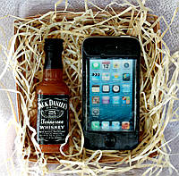 """Мыло ручной работы """"Набор виски Jack Daniels и айфон"""""""