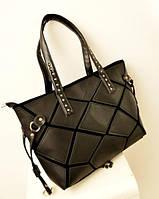 Молодежная сумка-шоппер. Стильная сумка. Женская сумка. Недорогая сумка. Интернет магазин. PU кожа. Код: КЕ44