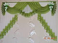 Ламбрекен шифоновый в спальню, кухню, детскую 2м №147 Разные цвета