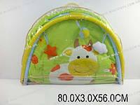 """Коврик для малышей """"Коровка"""" с погремушками на дуге, сумка 80х3х56"""